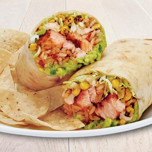Mexican Salmon Burritos